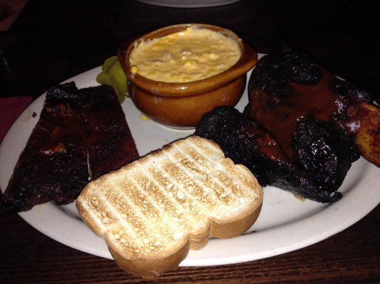 Jack Stack Barbecue - Martin City : Beef and pork ribs - so yummy!!!