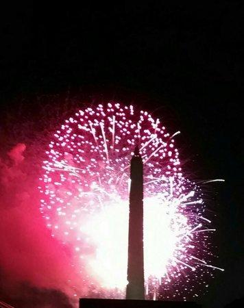 Washington Marriott at Metro Center: 4th of July fireworks 5 minutes off metro.