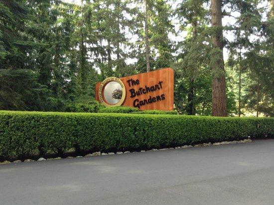 Butchart Gardens: The entrance