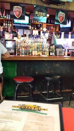 The Sports Page Grill & Bar: A view towards the bar