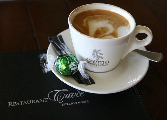 Restaurant Cuvee: The coffee and chocolate