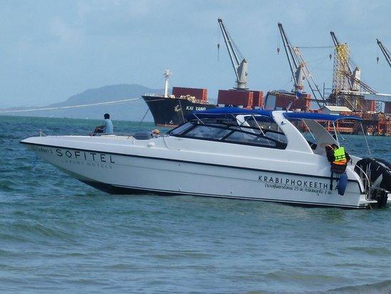 Sofitel Krabi Phokeethra Golf & Spa Resort : one of the hotel's speedboats