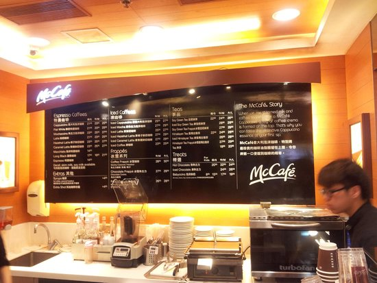 Mccafe Coffee Drinks Menu