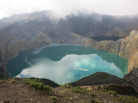 Mount Kelimutu: The Blue-Green Lake