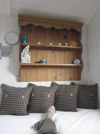 Skye Shepherd Huts: Comfy bed and great decor!