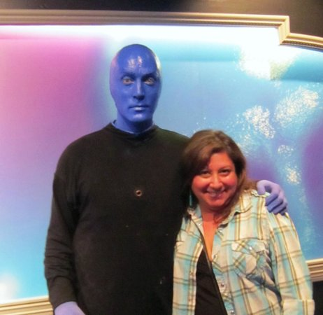Blue Man Group: Photo after the show