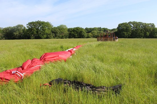 Virgin Balloon Flights: down ready for packing