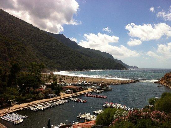 Hotel Le Mediterranee: Ausblick vom Balkon (1. Etage)