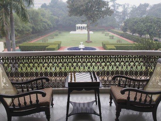 Nadesar Palace Varanasi: The hotel grounds from the balcony