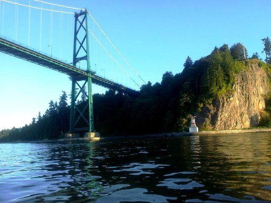 Granville Island Boat Rentals and Fishing Charters: View of Lions Gate Bridge, Vancouver