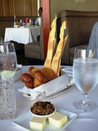 LA Prime at The Westin Bonaventure Hotel : unlimited bread basket, big selection, all good