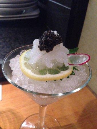 Matsuhisa: White Shrimp with caviar