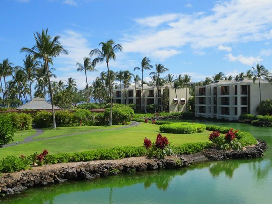 Mauna Lani Terrace Condominiums: View from the lanai over looking the former royal fishponds.