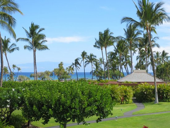Mauna Lani Terrace Condominiums: View from the lanai, with Maui in the distance.