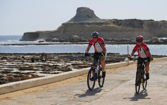 Island of Gozo, Malta: Cycling in Xwejni, Gozo