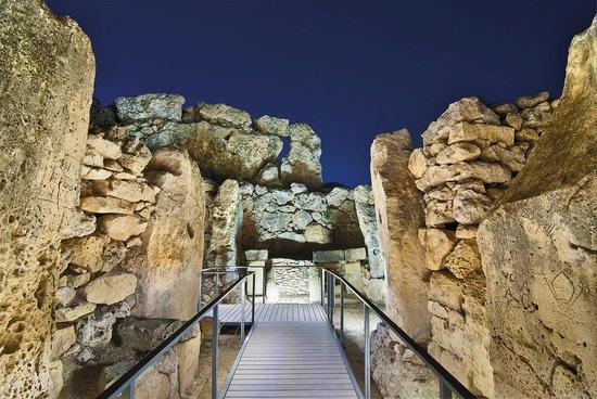 Island of Gozo, Malta: Ggantija Megalithic Temples, Xaghra, Gozo