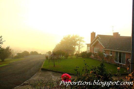 Trevallyn House B & B: Beautiful sunrise