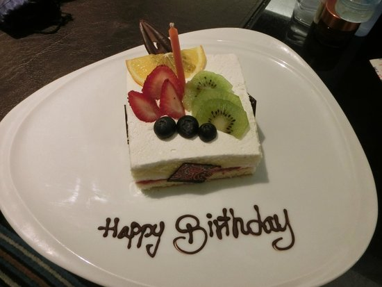 The Continent Hotel Bangkok by Compass Hospitality: thanks for the birthday cake!!