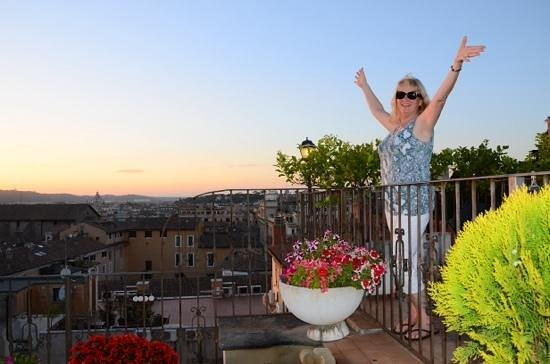 Hotel Pace Helvezia : Watching the sun go down on the roof terrace.