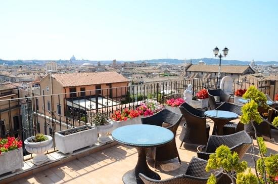 Pace Helvezia Hotel: Roof terrace.It's definitely the clincher!