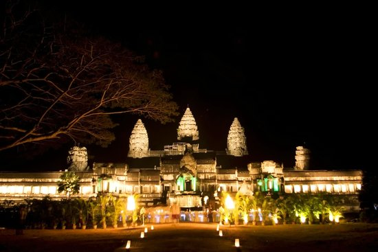 Angkor Wat Eluminated At Night Picture Of Siem Reap