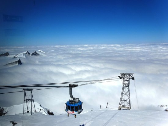 Mount Titlis: View of Mt. Titlis rotating cable car