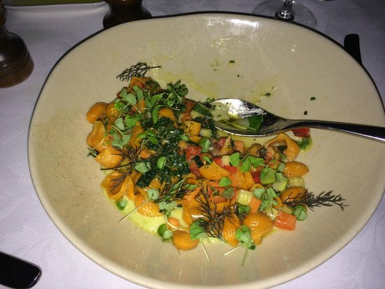 Otto Ristorante : Veggie main with pumpkin pasta