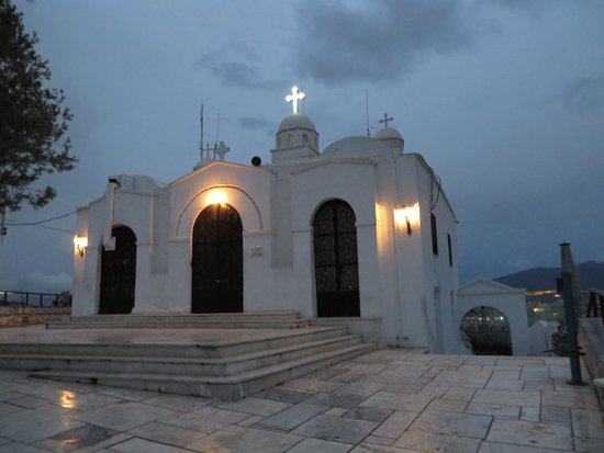 Mount Lycabettus : Chapel of Agios Georgios at the top