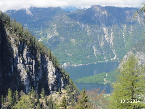 Dachstein Giant Ice Caves: The view from Eisenhohle