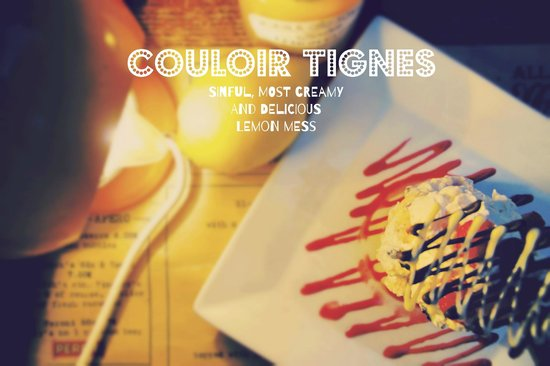Couloir Bar & Restaurant : Lemon curd Eton mess