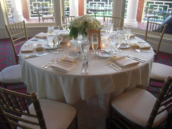 Sherwood Country Club: Table du mariage