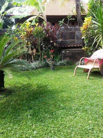 Puri Rama Homestay: Garden - immaculate and peaceful.