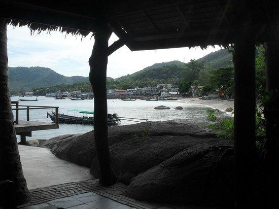 Sensi Paradise: View of beach from restaurant