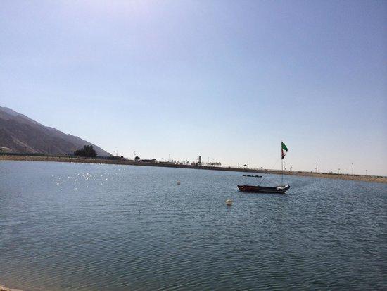 Mubazzarah-Park: Artificial lake next To Mubazzara