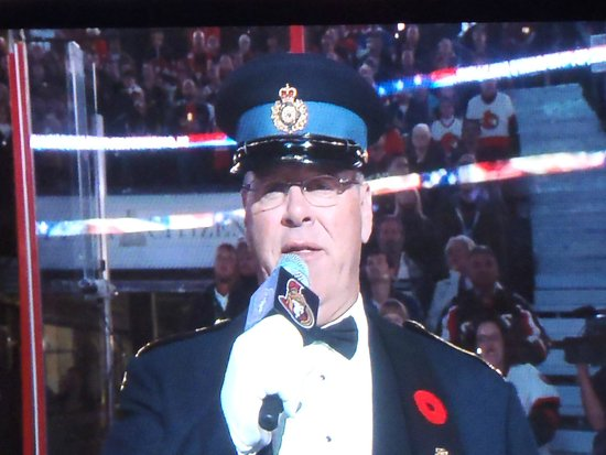 Canadian Tire Centre: Opening ceremony to the game