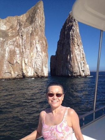 Kicker Rock from the Catamaran