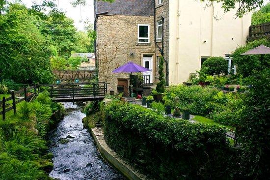 Birds Nest Cottage Guest House: Back garden and stream