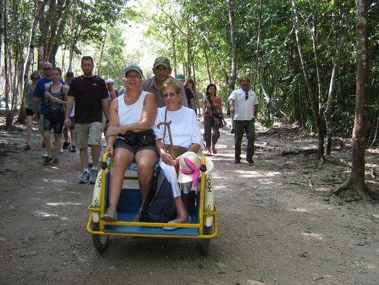 Ruines de Cobá : Brilliant taxi
