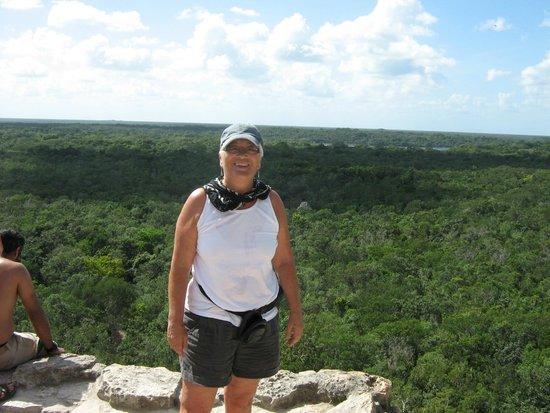 Coba Ruins: at the top