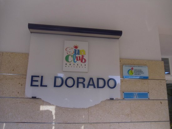 Sun Club Eldorado : Hotel sign