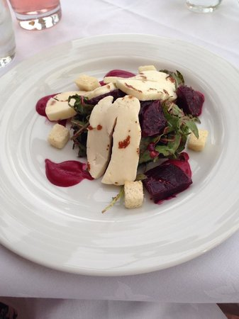 Dalhousie Castle: Haloumi and beetroot salad