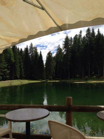 Lago Pianozes: Vista lago dal ristorante