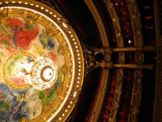Opéra Garnier : Ceiling within the Opera
