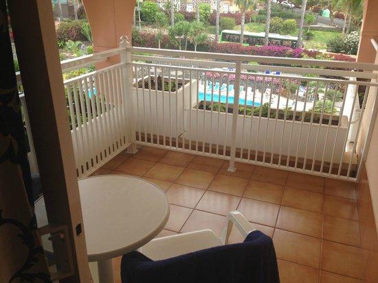 Hotel Puerto Palace: Der Balkon unseres Doppelzimmers