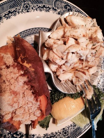 Dobbin House Tavern : Crab ala Dobbin with sweet potato. All the work is done for you!