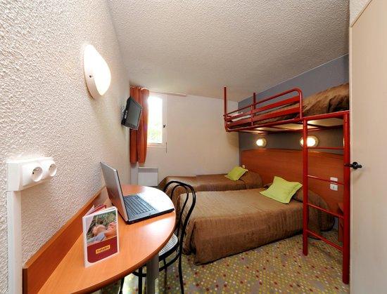 Hôtel balladins Tours Nord : Chambre 3 lits simples