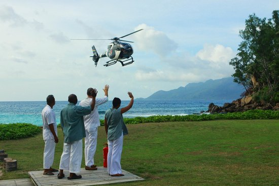North Island Seychelles: Arrive on North Island by Helicopter