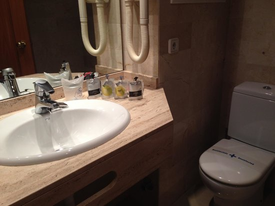 Hotel Saratoga: The bathroom.