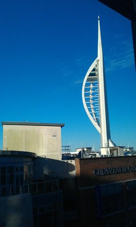 Holiday Inn Express Portsmouth - Gunwharf Quays: View of Spinnaker from the room