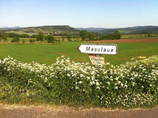 Le Clos de Masclaux : En allant à Masclaux (petit hameau près d'Arlempdes où se situe la chambre d'hôtes)